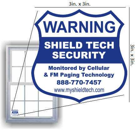 Alarm Window Sticker