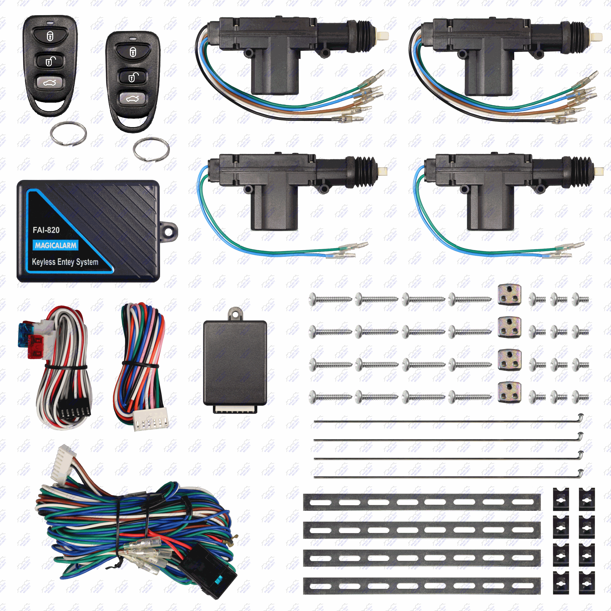 Remote Keyless Entry System 4 Door Power Lock Heavy Duty Actuator 1989 Oldsmobile Cutlass Supreme 28l Under Driver Dash Fuse Box Diagram Enlarged Photo A B