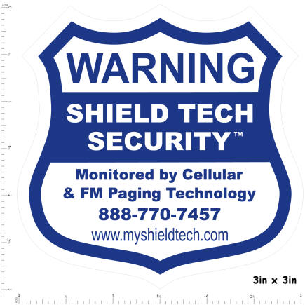 1 Pack Window Decal Sticker - ShieldTechSecurity.com