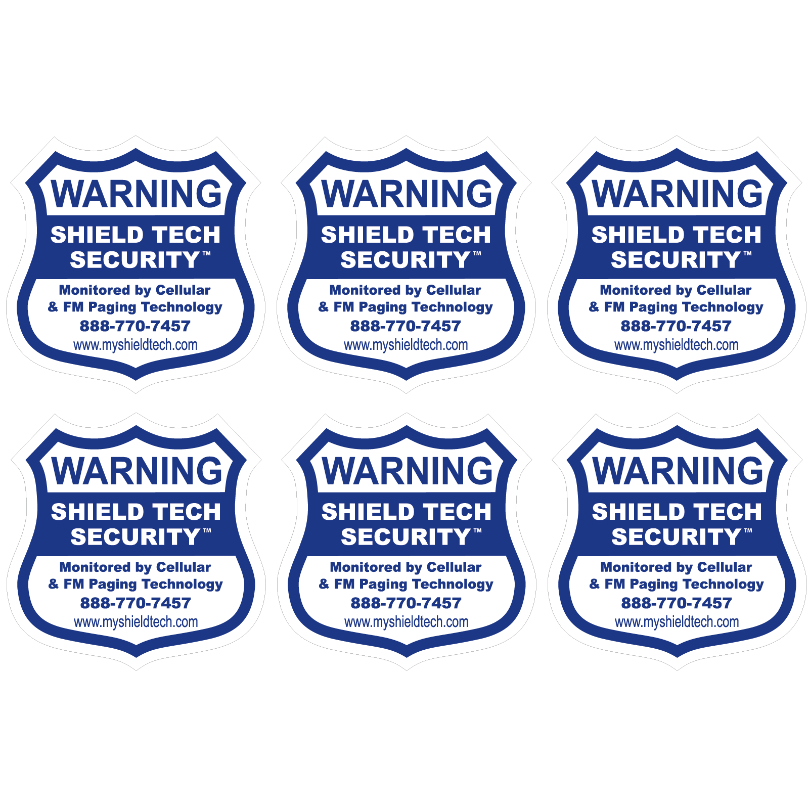 6 Back Adhesive Window Or Door Decal Warning Sticker