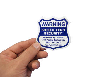 Alarm Decal for Security System