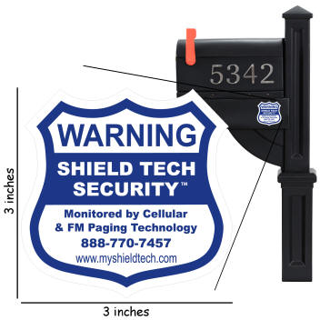 Mailbox Decal for Alarm System Mail Box