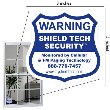 Window Decal for Alarm System