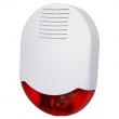 Wireless Outdoor Siren w/ Red Strobe, 3 - 5 Year Battery