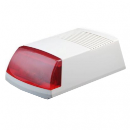 Wireless Outdoor Siren w/ Red Strobe