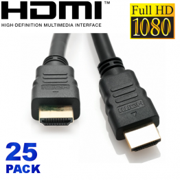 25 Pack - 6FT HDMI High Speed with Ethernet Cable