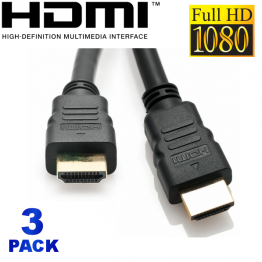 3 Pack - 6FT HDMI High Speed with Ethernet Cable