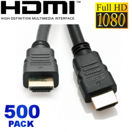 500 Pack - 6FT HDMI High Speed with Ethernet Cable