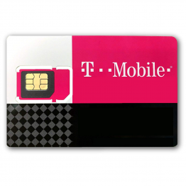 T-Mobile Pre-Paid SIM Card (Triple Cut: Standard, Micro, Nano)