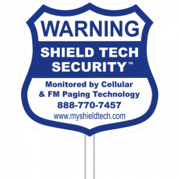 9x9in Yard Sign & Stake - Shield Tech Security