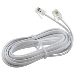 Standard 4-Wire Phone Line (White 5'3'')