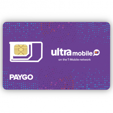 Ultra Mobile Pre-Paid SIM Card (Triple Cut: Standard, Micro, Nano) for T-Mobile Network