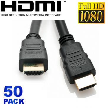 50 Pack HDMI Cables