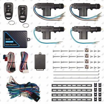 Keyless Entry System w/ Heavy Duty Door Lock Kit