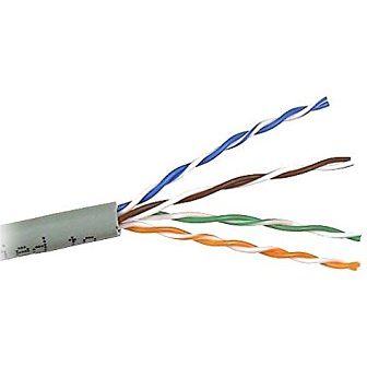 [1FT CAT3] 8 Solid Wires / 4-Pairs - 24 Gauge Wire - (For 12v Alarms)