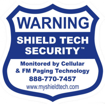9x9in Security Sign [SIGN ONLY / NO STAKE] - Shield Tech Security