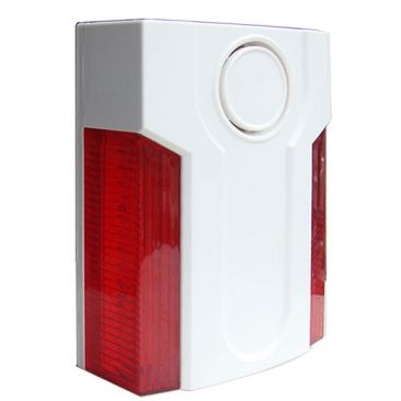 Red Strobe Wireless Siren