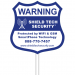 9x9in Cellular Alarm Yard Sign & Stake - Shield Tech Security