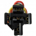 12-Volt DC 5-Wire Relay Socket - For Car Alarms, Starters, and Other Vehicle Components
