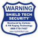 3x3in Window Decal - Warning Sticker (Back Adhesive)