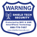 9x9in Cellular Alarm Sign [SIGN ONLY/NO STAKE] - Shield Tech Security