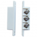Wired Magnetic Contact Switch for Doors and WIndows (Normally Open & Normally Closed) [White Strip]