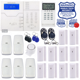 Wireless Security System w/ Opt. Internet & Cellular